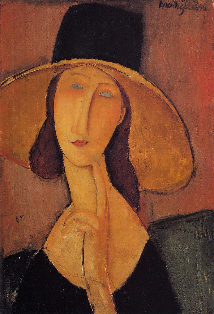 宇宙出身の元芸術家が好きな絵画作品②アメデオ・モディリアーニ作 「大きな帽子のジャンヌ・エビュテルヌ」