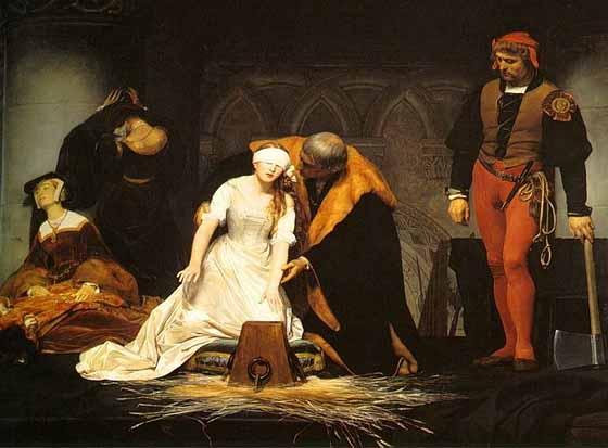 【怖い絵展】マーブルスが好きな絵画作品①ポール・ドラローシュ作 「レディ・ジェーン・グレイの処刑」