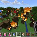 マイクラPEプレイ日記#8 山火事【Minecraft PE】