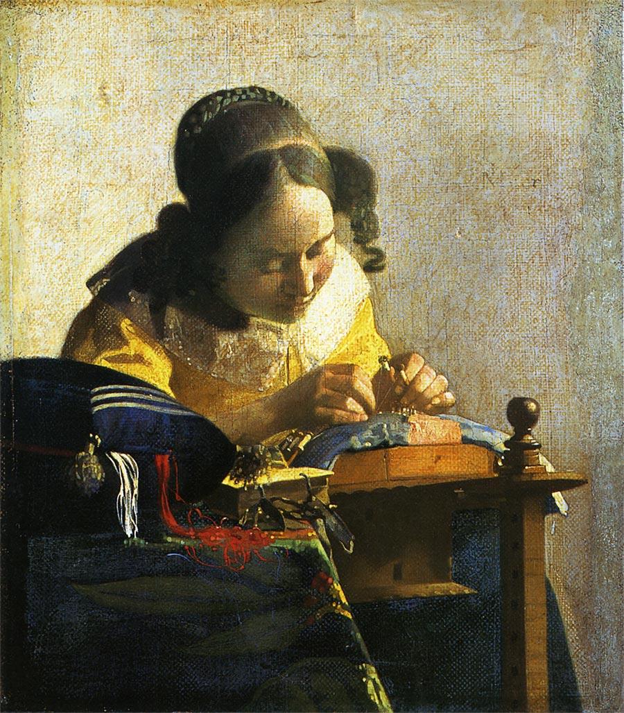 宇宙から来た元芸術家が好きな絵④ ヨハネス・フェルメール作『レースを編む女』