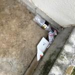ドカタが現場でゴミを散らかして帰る